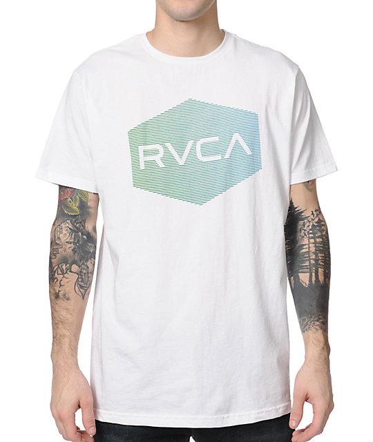 RVCA Halftone Hex ANP White T-Shirt
