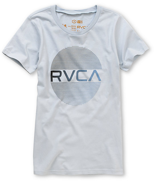 RVCA Hits Silver Crew Neck T-Shirt