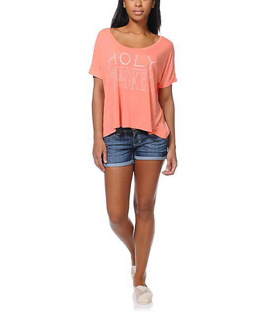 RVCA Holy Smokes Coral T-Shirt