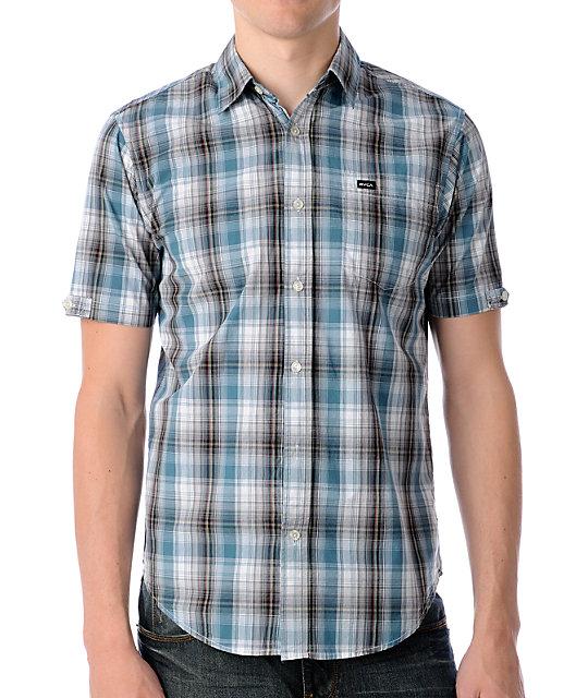 RVCA Hunter Point Blue Woven Shirt