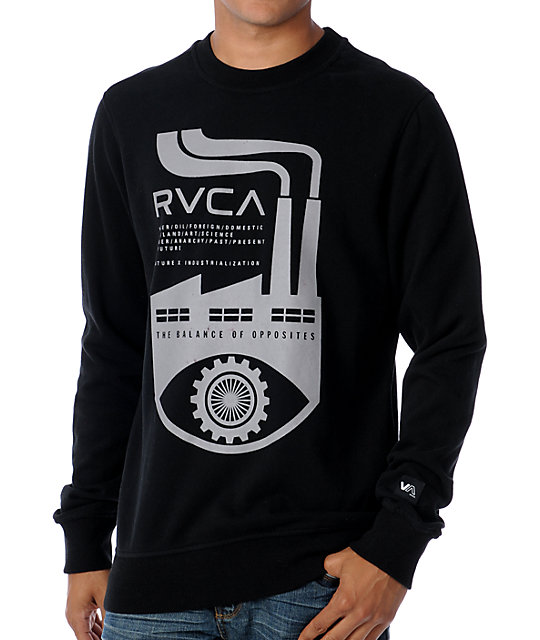 RVCA Industry Eye Black Sweatshirt