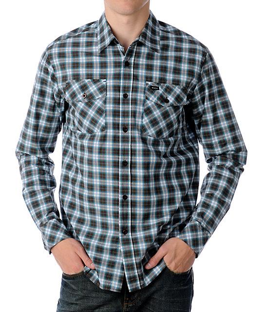 RVCA Intruder Brown Woven Shirt