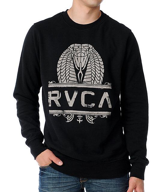 RVCA King Kobra Black & White Sweatshirt