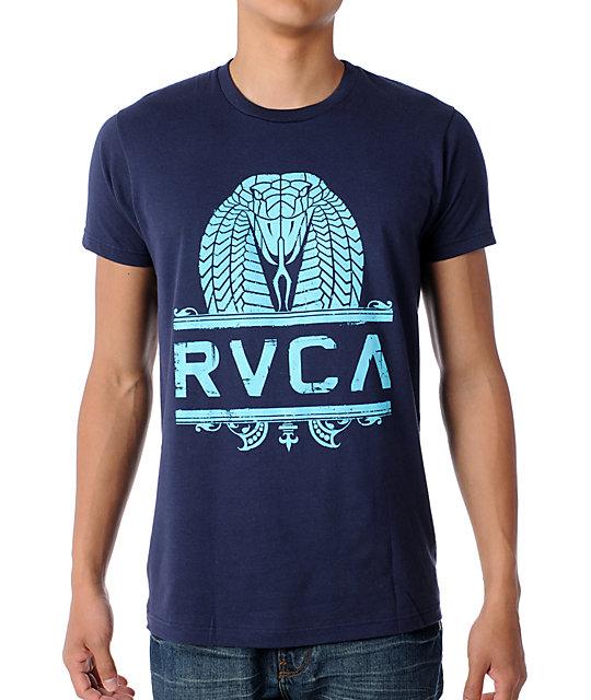 RVCA King Kobra Navy T-Shirt