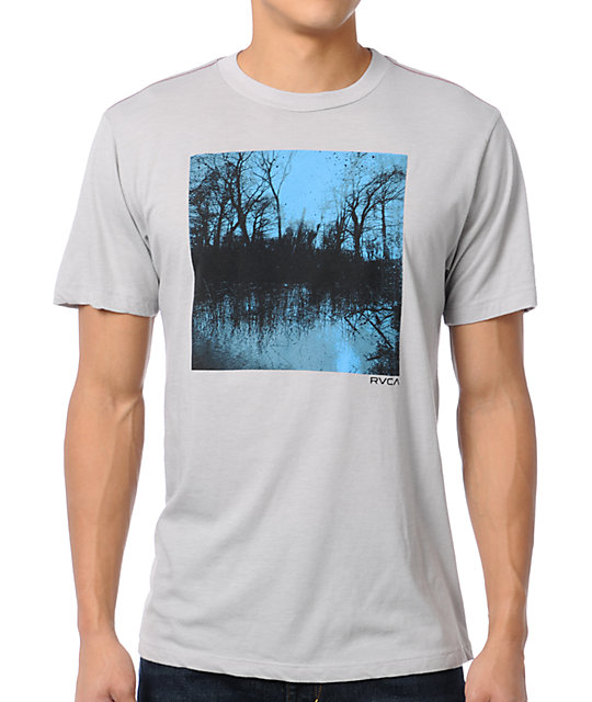 RVCA Lake Travis ANP Grey T-Shirt