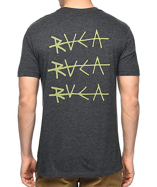 rvca line black vintage t shirt. Black Bedroom Furniture Sets. Home Design Ideas