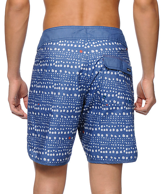 RVCA Marking Navy 18 Board Shorts