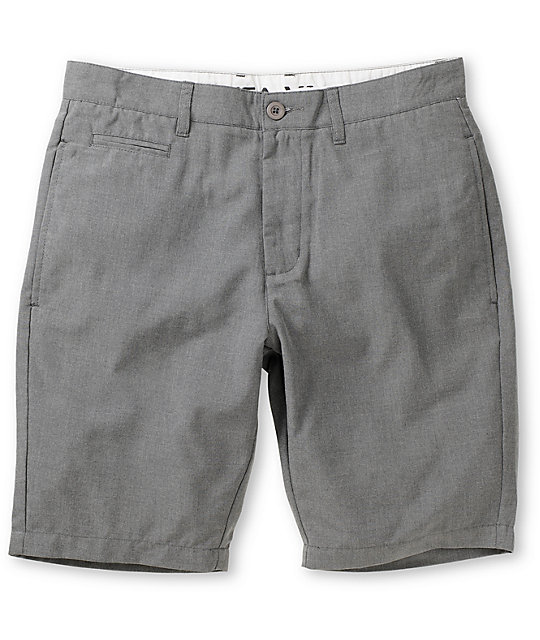 RVCA Marrow III Graphite Grey Regular Fit Chino Shorts