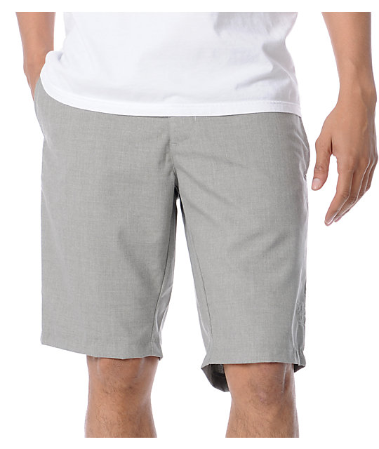 RVCA Marrow Light Grey Shorts