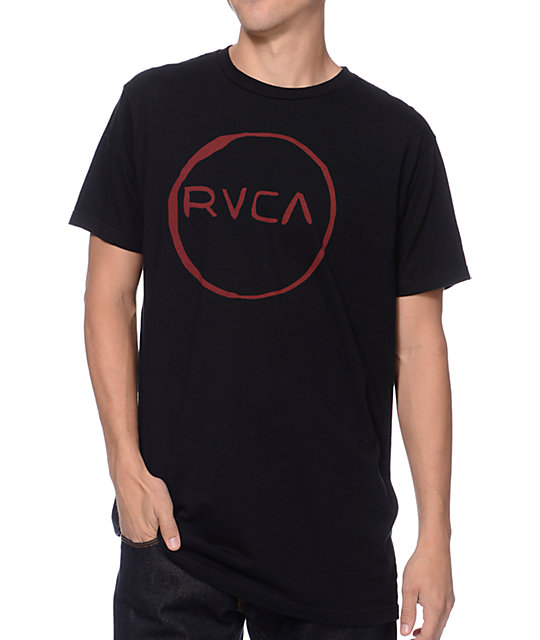 RVCA Melt Circle Black T-Shirt
