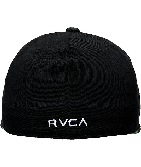 RVCA Mens Sluggers Black Flexfit Hat