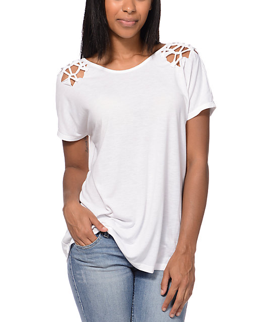 RVCA Metal Merchant White Lattice T-Shirt