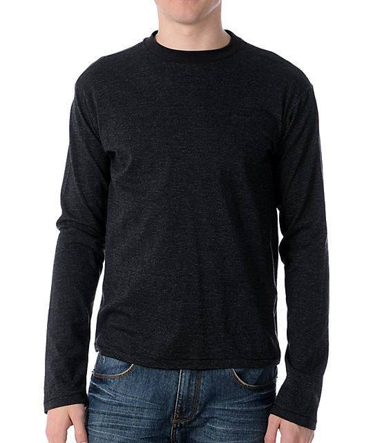 RVCA Nagasaki Black Knit Shirt
