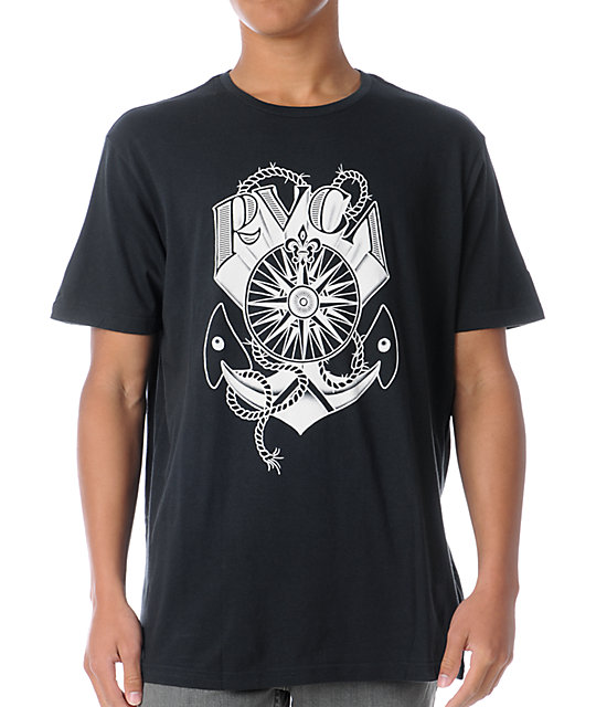 RVCA Nautical Black T-Shirt
