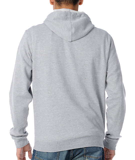 RVCA New Bars Grey Pullover Hoodie