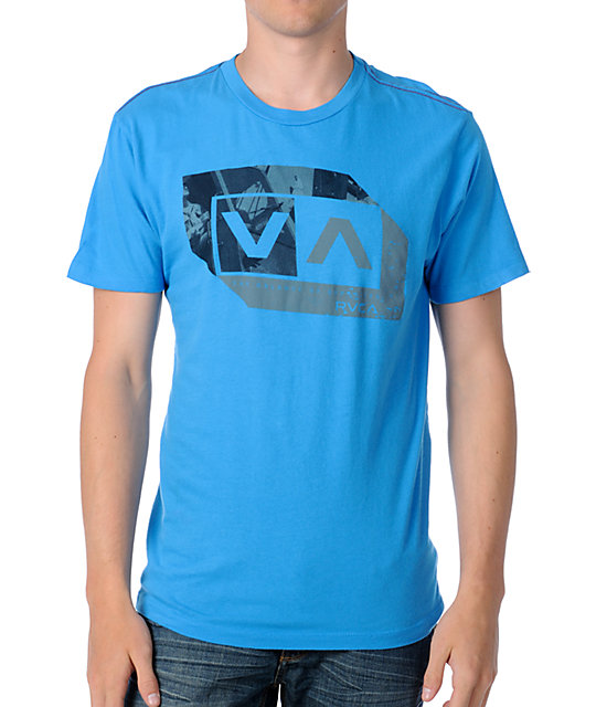 RVCA Opposite Box Blue T-Shirt