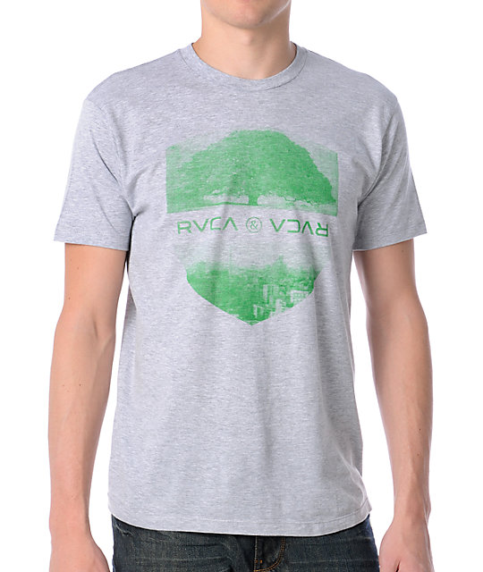 RVCA Opposites Shield Grey T-Shirt