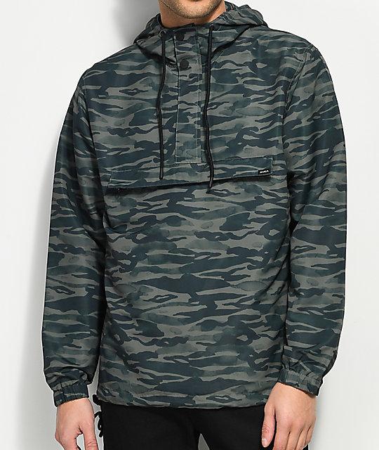 RVCA Packaway Camo Anorak Jacket | Zumiez