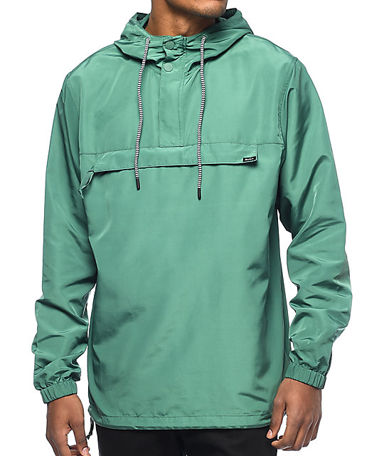 RVCA Packaway Green Anorak Jacket | Zumiez