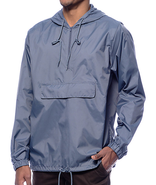 RVCA Public Works Grey Anorak Windbreaker