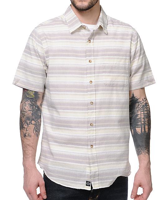 RVCA Raya White Short Sleeve Button Up Shirt