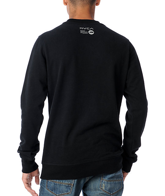 RVCA Republic Black Sweatshirt