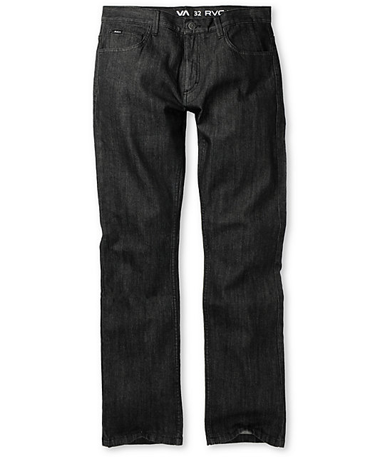 RVCA Romero Black Denim Regular Jeans