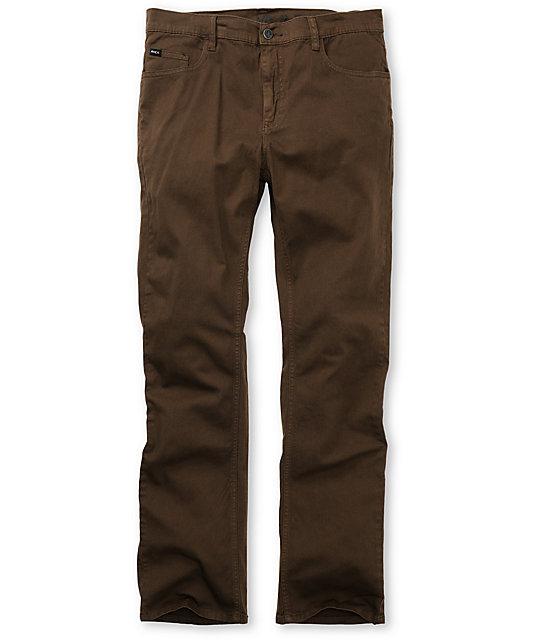 RVCA Romero Brown Stretch Twill Pants