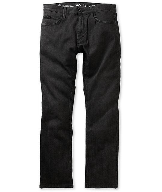 RVCA Romero II  Worn Black Slim Jeans