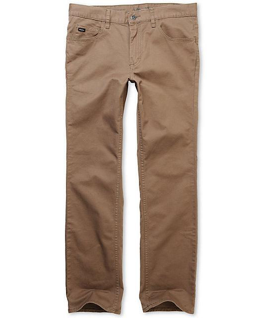 RVCA Romero Light Brown Stretch Twill Pants