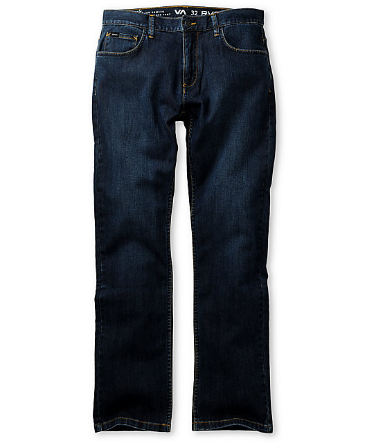 RVCA Romero Worn Blue Regular Jeans