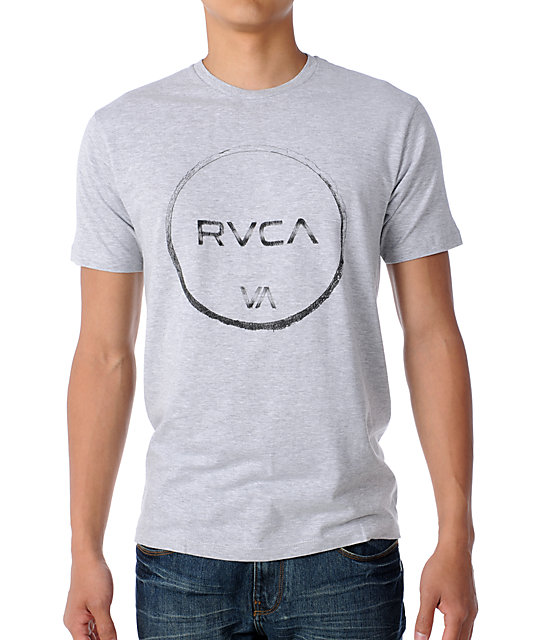 RVCA Rough Draft Grey T-Shirt