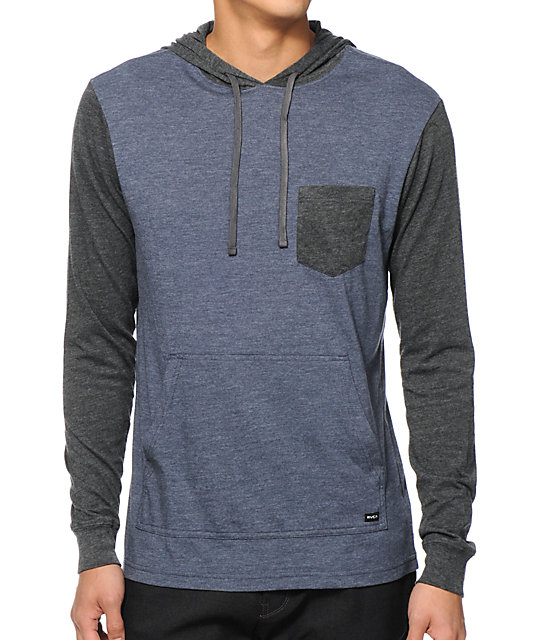 Set Up Long Sleeve Hooded Pocket Shirt