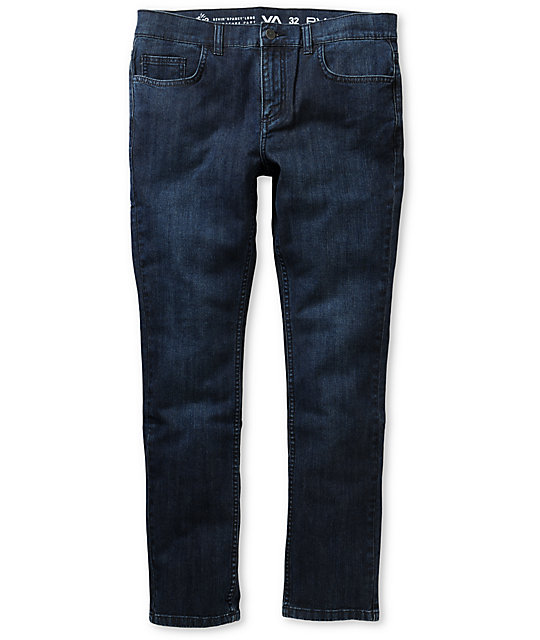 RVCA Spanky II Worn Blue Super Skinny Jeans
