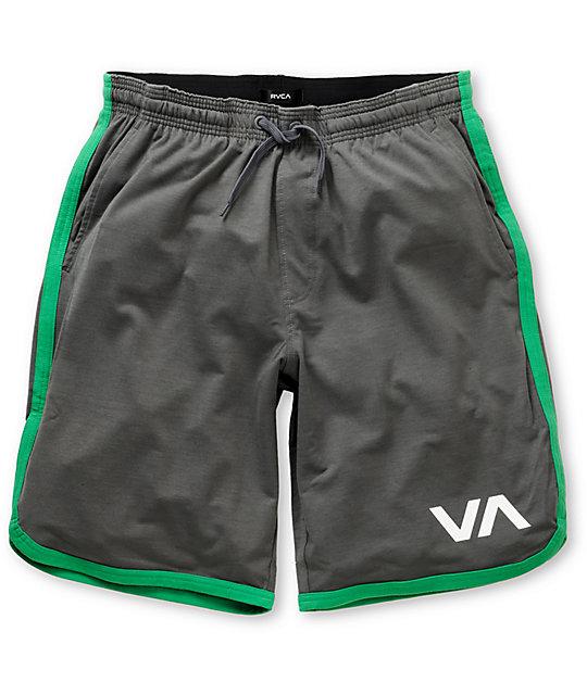 RVCA Sport Short II Grey & Green Shorts