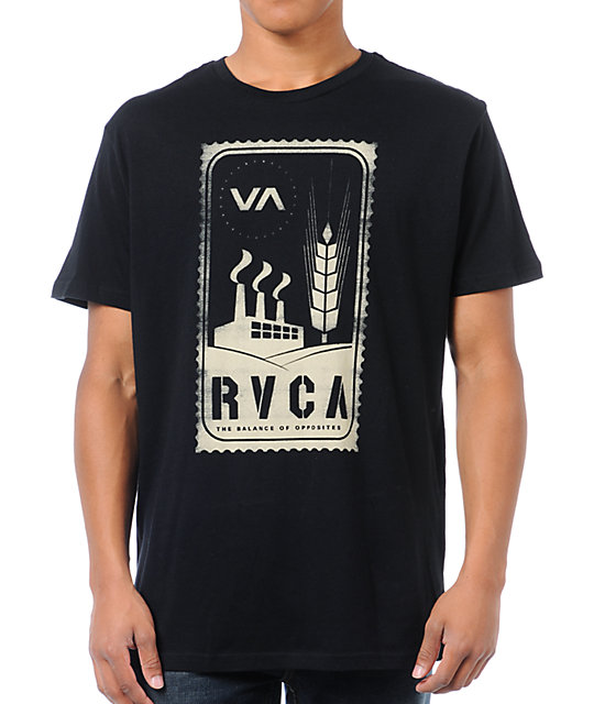 RVCA Stamp Black T-Shirt