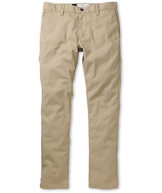 RVCA Stapler Khaki Skinny Pants