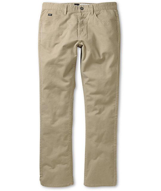RVCA Stay Dark Khaki Twill Slim Fit Pants
