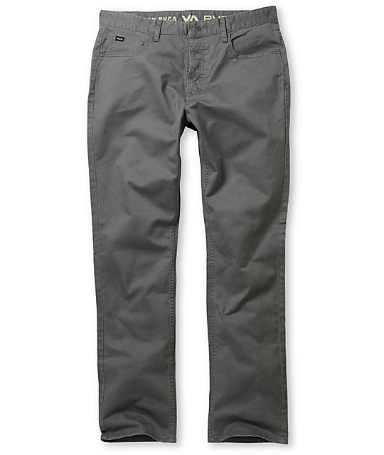 RVCA Stay Twill Stretch Regular Fit Grey Pants