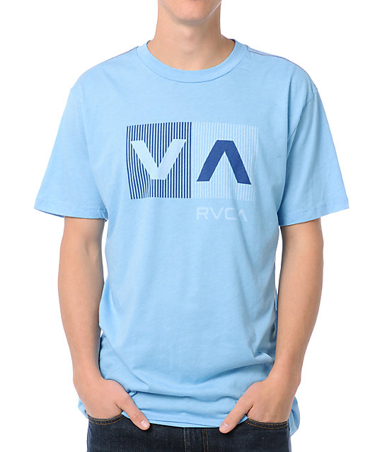 RVCA Striped Box Blue T-Shirt