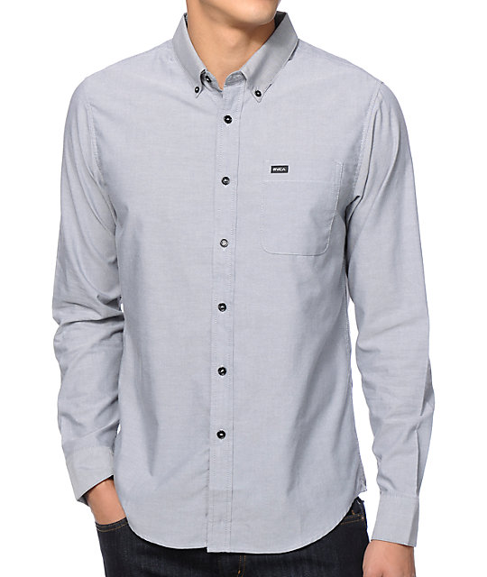 Rvca that 39 ll do long sleeve button up shirt at zumiez pdp for Cool long sleeve button up shirts