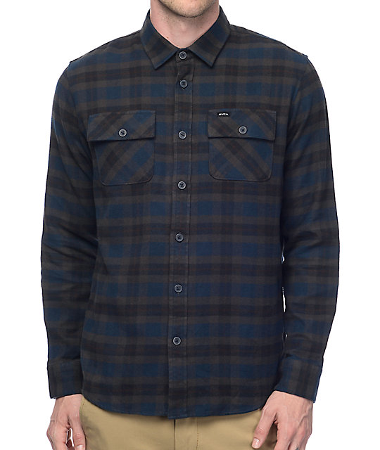 RVCA That'll Work Navy Flannel Shirt