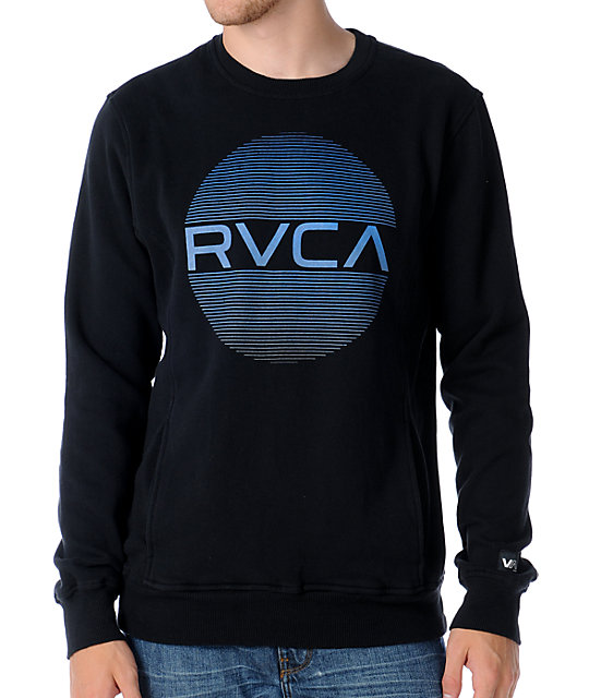 RVCA The Hits Black Crew Neck Sweatshirt