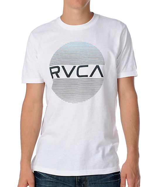 RVCA The Hitss 2 Mens White T-Shirt