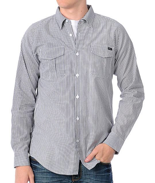 RVCA The Runner Grey Woven Shirt