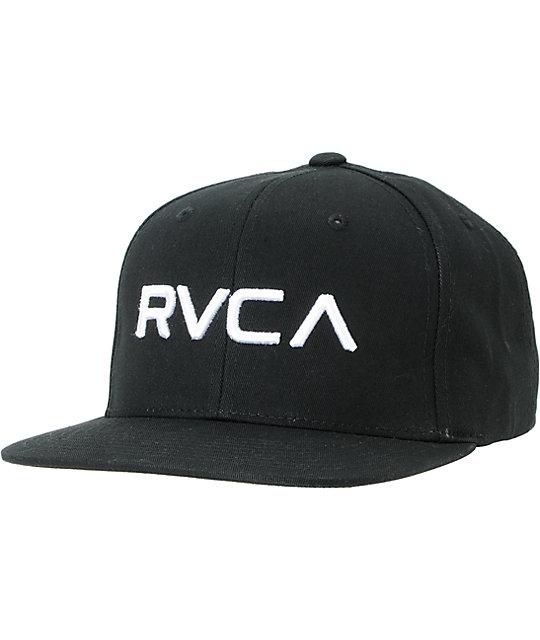 RVCA Twill Black Snapback Hat