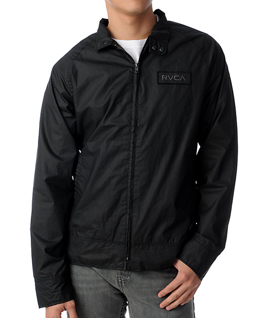 RVCA Union Street Black Waxed Canvas Jacket