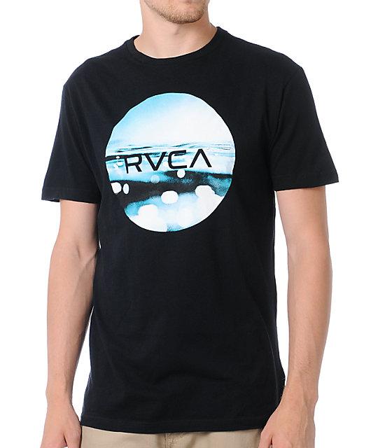 RVCA Upsidedown Underwater Black T-Shirt