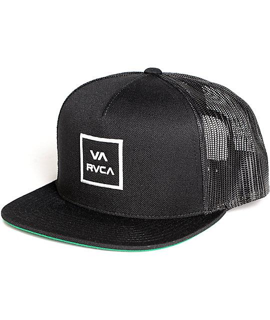 RVCA VA All The Way Black Trucker Hat