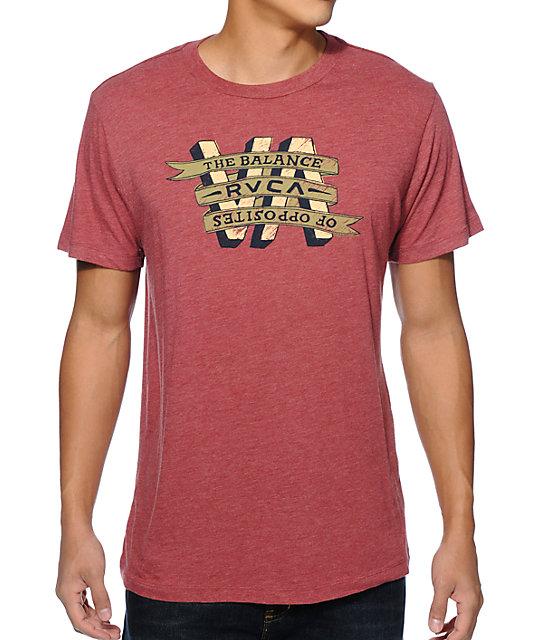 RVCA VA Banner Red T-Shirt